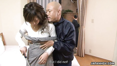 Horny Japanese eats dick and gets fuck in reward