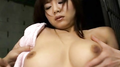 Asian hot cunt stretched and fucked before camera