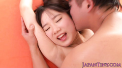 Mature oriental guy excitingly fondles young chick and fucks her
