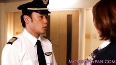 Asian milf stewardess gets unsparingly fucked by pilot