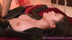 Fresh and hot Japanese beauty is being excitingly licked