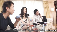Big dicks filling Japanese cunt with the semen