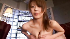 Asian gal getting satiated with lavish cum shot