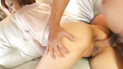 Girl spreads her asscheeks and gets penetrated