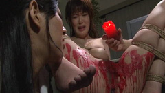 Wild fetish wax action for the crying Asian chick