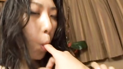 Couple enjoys wild orals and he covers her face with cum