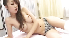 Skinny Asian beauty gets undressed and hotly excited in sixty nine pose