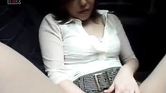 Teen Asian chick gets her pussy fondled in the car