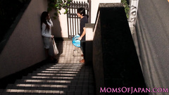 Asian dude meets sexy girl outdoors and takes her home to  fuck