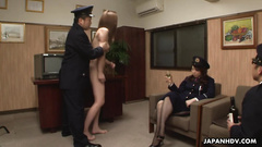 Asian prisoner is getting used by the kinky guys in uniform