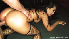 Steaming sexy Japanese porn star Asa Akira got pleased with hardcore anal fuck